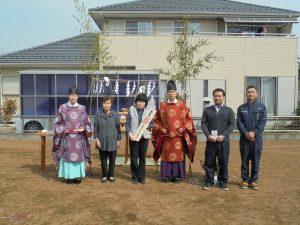 茨城県守谷市で地鎮祭を行いました